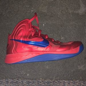 men's nike hyper fuse red&blue basketball shoes